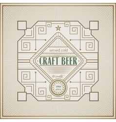 Good craft beer brewery vintage label vector image