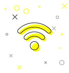 grey wi-fi wireless internet network symbol line vector image