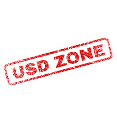 Grunge usd zone rounded rectangle stamp vector