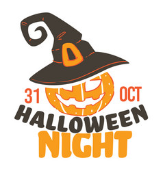 Halloween night 31 october celebration vector