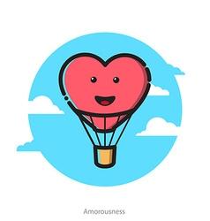 heart shape air balloon vector image
