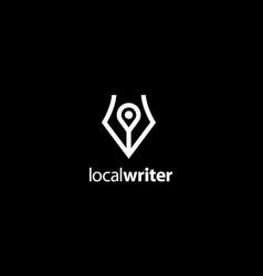 Local writer logo design concept vector