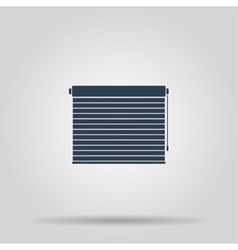 Louvers rolls sign icon Window blinds or jalousie vector image