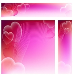 Love banners vector