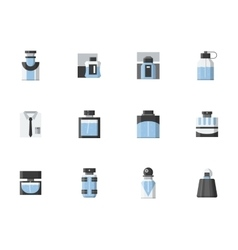 Male fragrance vials flat color icons vector image