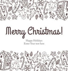 Merry christmas and new year seamless background vector