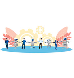 metaphor friendship cooperation people and vector image
