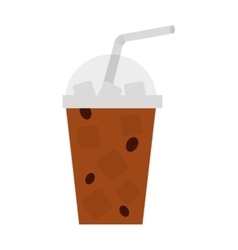 milkshake drink isolated icon vector image