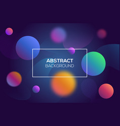 modern futuristic abstract dynamic geometric cover vector image
