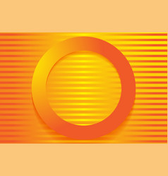 Modern orange backgrounds 3d colorful overlap vector