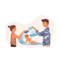 parents supporting protecting and giving vector image
