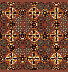 Pattern in the style of australian aborigines vector