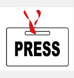 Press id card vector
