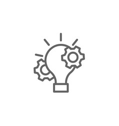 Project management outline icon elements of vector