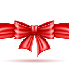red bow and ribbon realistic vector image