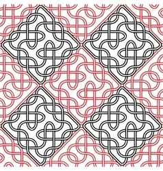seamless celtic or scandinavian pattern vector image