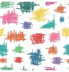 Seamless pattern with sketch vector image