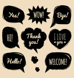 Set of speech bubbles in comic style hand vector