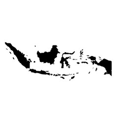 simple only sharp corners map indonesia drawing vector image