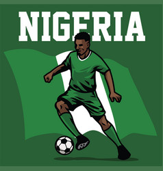 Soccer player of nigeria vector