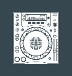 solid color dj cd player device vector image