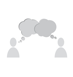 Speech bubbles people vector