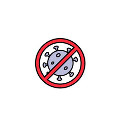 stop virusbacteriahealth concept icon over vector image