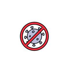 Stop virusbacteriahealth concept icon over vector