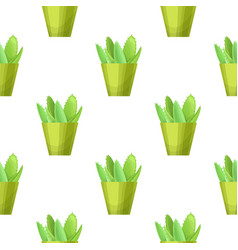 succulent - floral seamless pattern vector image