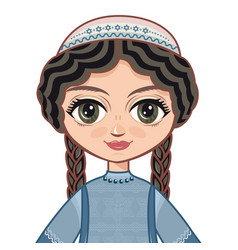the girl in orthodox jews dress vector image