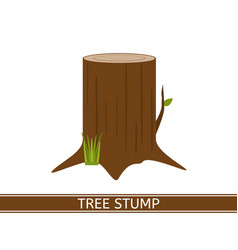 Tree stump icon vector