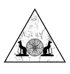wiccan symbol protection triangle mandala vector image