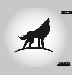 wolf body logo vector image