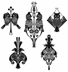 aesthetic birds vector image vector image