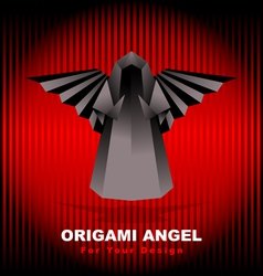 black origami angel vector image vector image