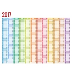calendar simple flat design 2017 vector image vector image