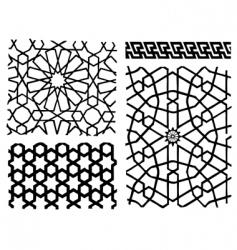 oriental patterns vector image vector image
