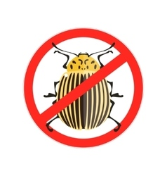 Red Prohibition sign Colorado bug vector image