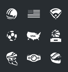 set of america symbols icons vector image vector image