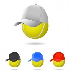 tennis mascot vector image vector image