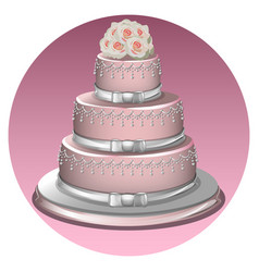 a stylish wedding cake vector image