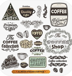 Coffee Label Set vector image vector image