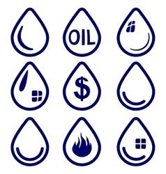 drop - icon set symbol vector image vector image