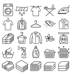 laundry service icons vector image vector image