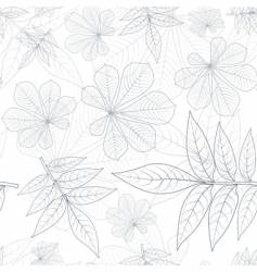 leaves silhouette pattern vector image
