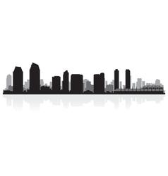 San Diego USA city skyline silhouette vector image