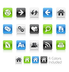 Web Navigation Clean Series vector image vector image