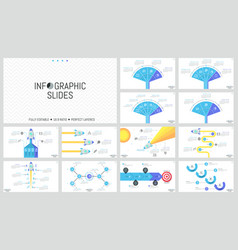 collection of minimal infographic design templates vector image