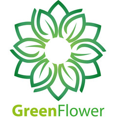green flower vector image