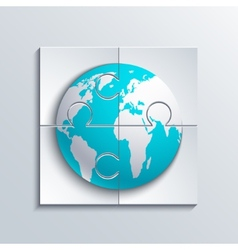 modern concept puzzle and world vector image